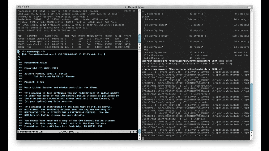 iTerm for Mac - review, screenshots