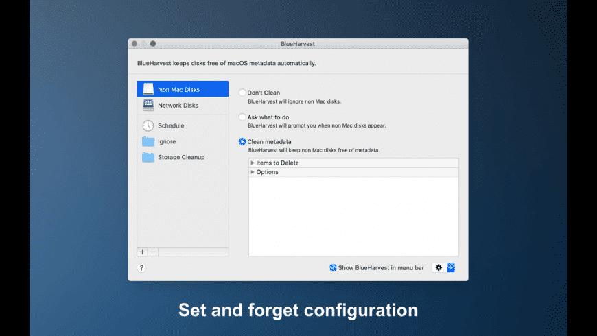BlueHarvest for Mac - review, screenshots