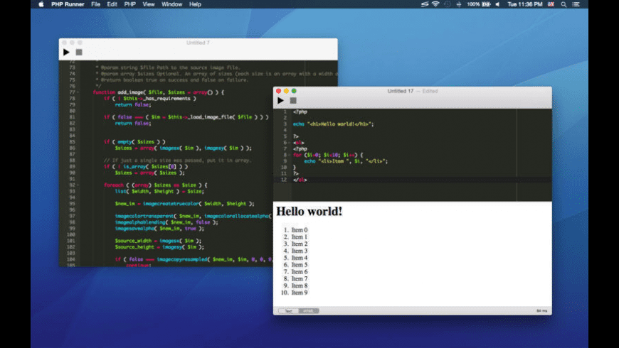 PHP Runner for Mac - review, screenshots