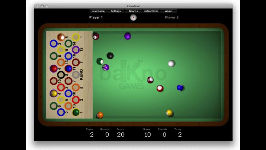 Keno Pool for Mac - review, screenshots