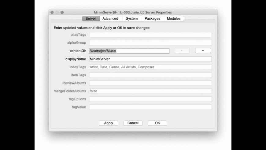 MinimServer for Mac - review, screenshots