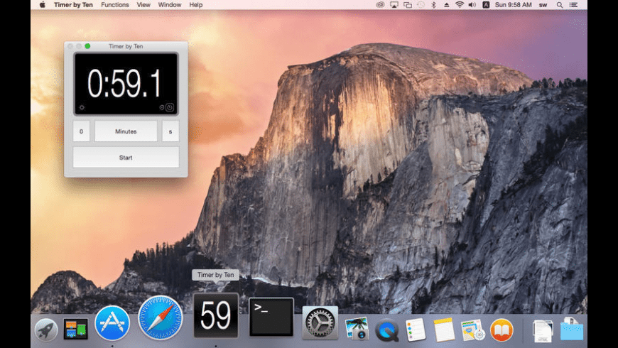 Timer by Ten for Mac - review, screenshots