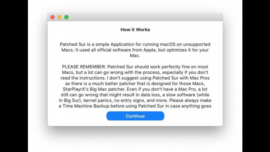 Patched Sur for Mac - review, screenshots