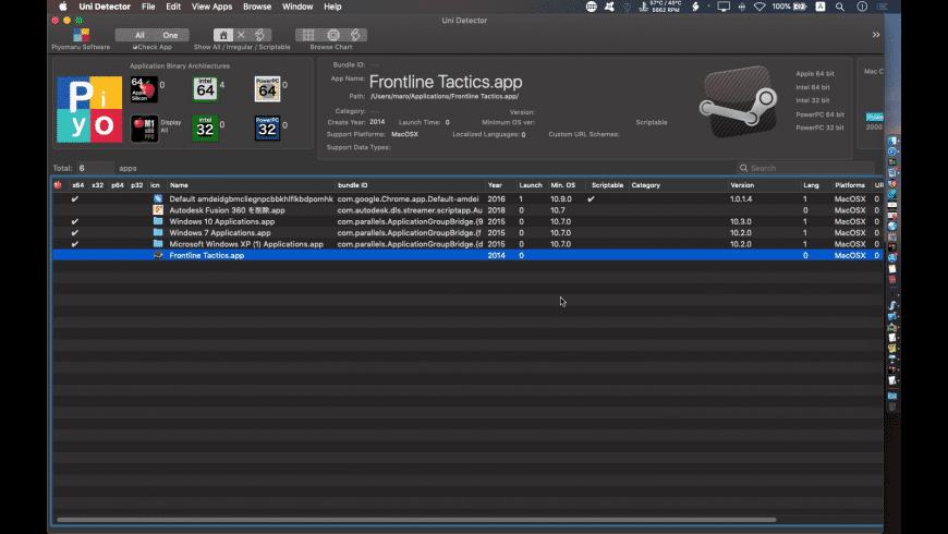 Uni Detector for Mac - review, screenshots