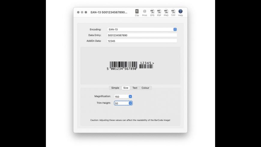 Scorpion BarCode for Mac - review, screenshots
