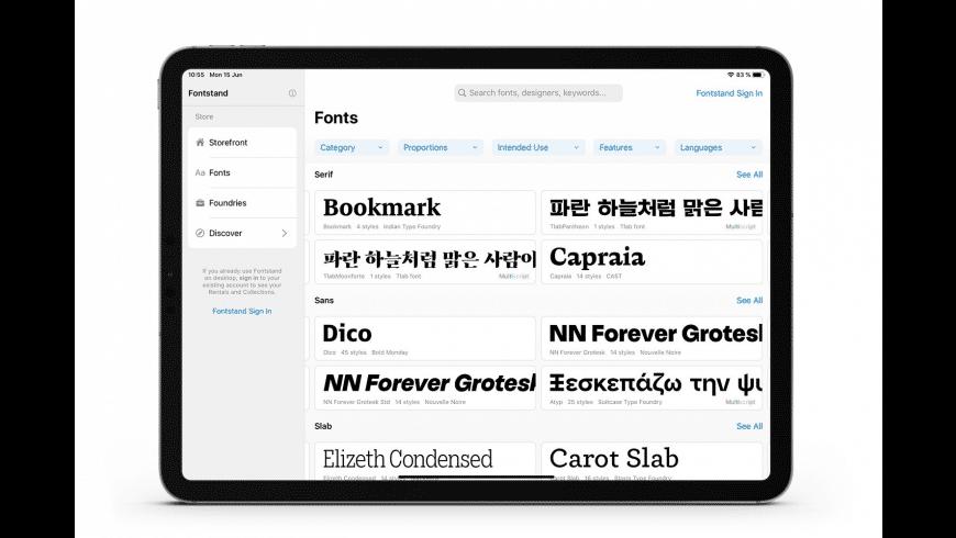 Fontstand for Mac - review, screenshots