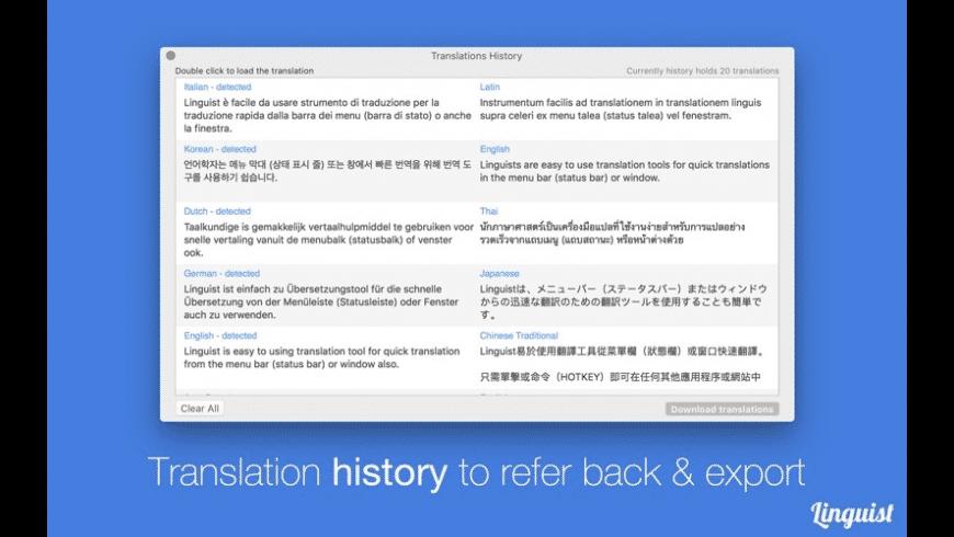 Linguist for Mac - review, screenshots