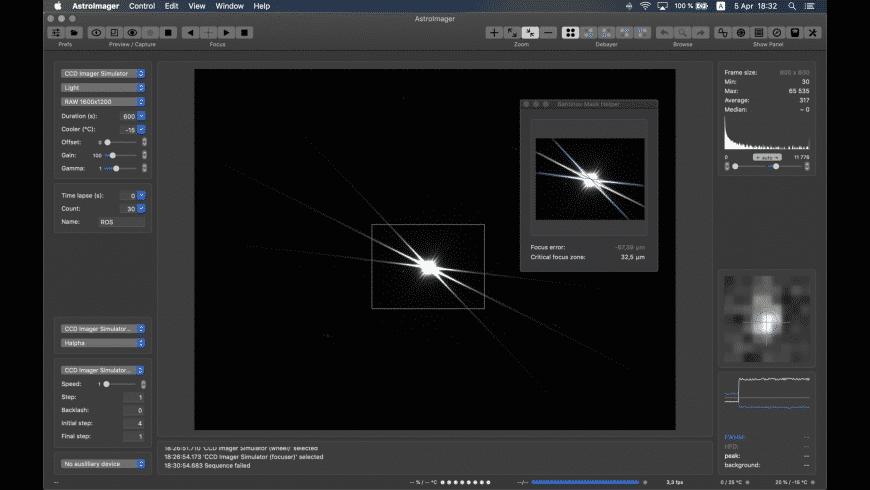 AstroImager for Mac - review, screenshots