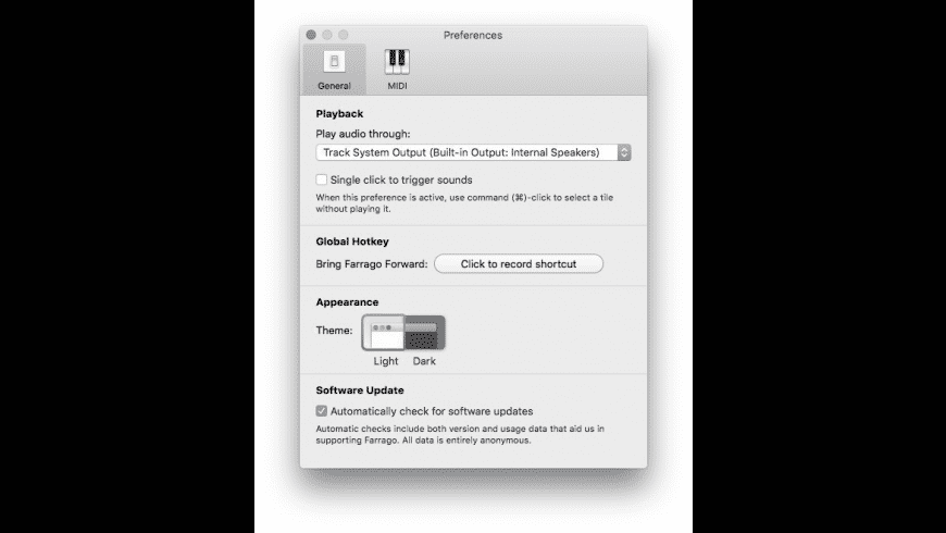 Farrago for Mac - review, screenshots