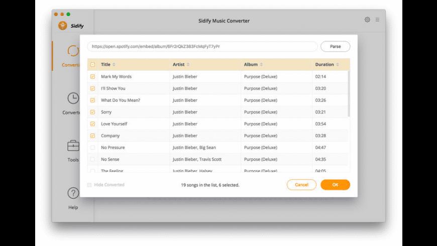 Sidify Music Converter for Mac - review, screenshots