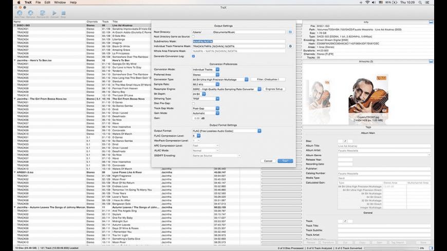 TraX for Mac - review, screenshots