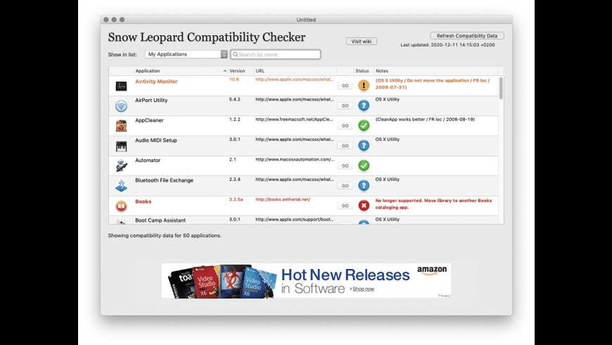 Snow Leopard Compatibility Checker for Mac - review, screenshots