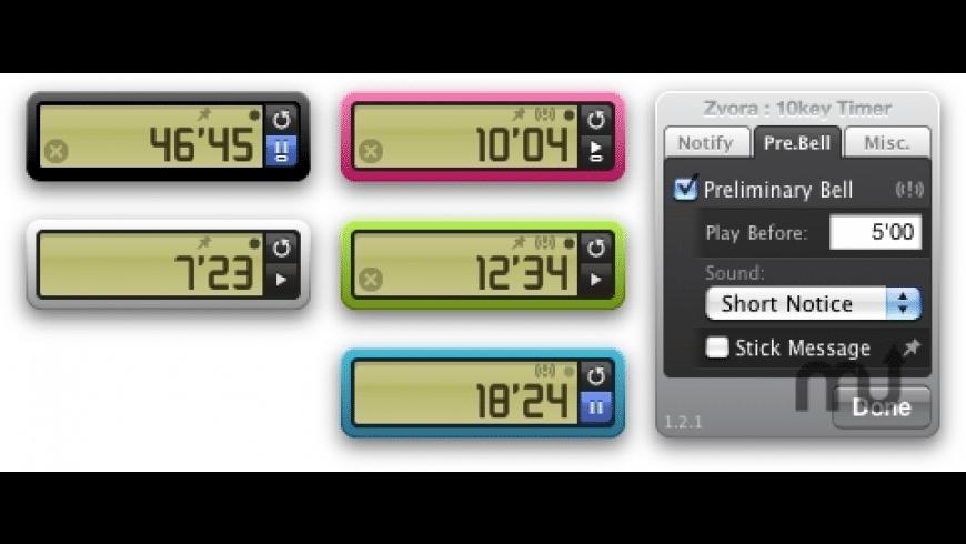 10key Timer for Mac - review, screenshots