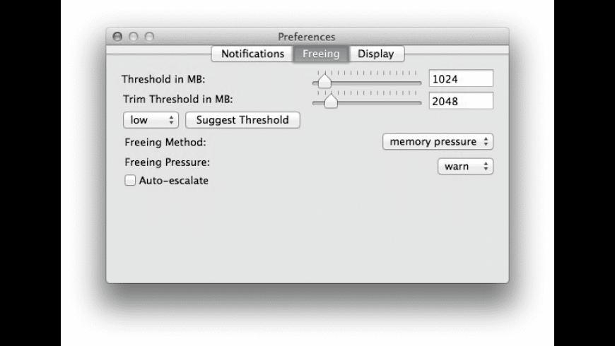 MemoryTamer for Mac - review, screenshots