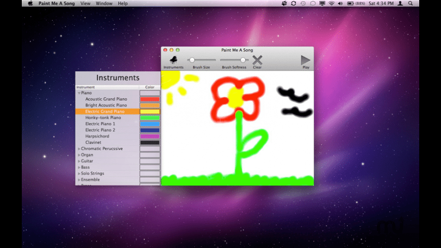Paint Me A Song for Mac - review, screenshots
