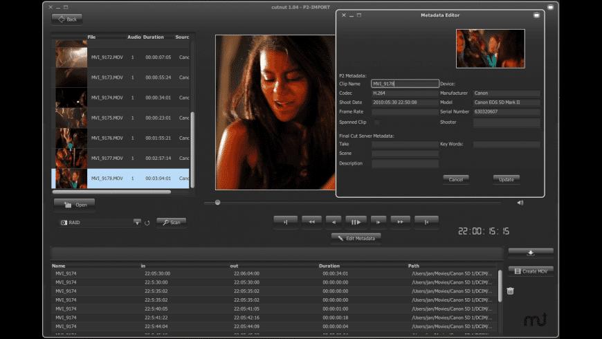 CutNut for Mac - review, screenshots