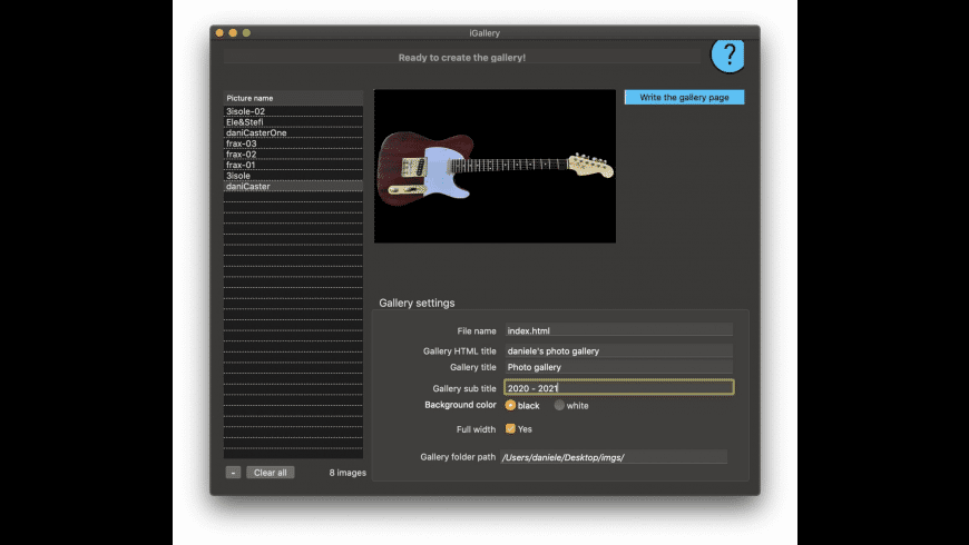 iGallery2 for Mac - review, screenshots