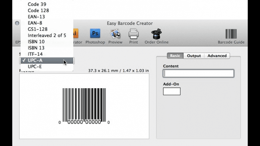 Easy Barcode Creator for Mac - review, screenshots