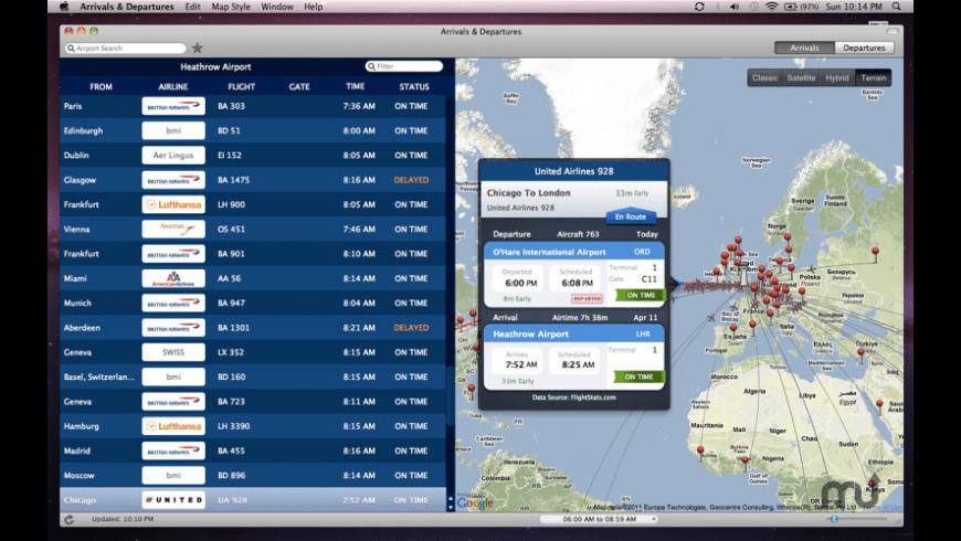 Arrivals & Departures for Mac - review, screenshots