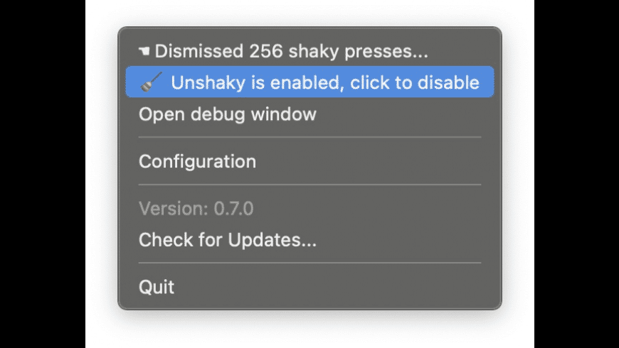 Unshaky for Mac - review, screenshots