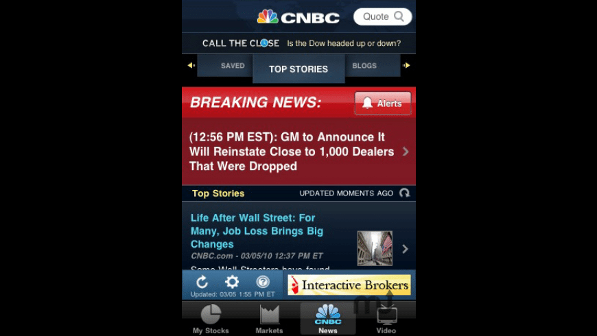 CNBC Real-Time for Mac - review, screenshots