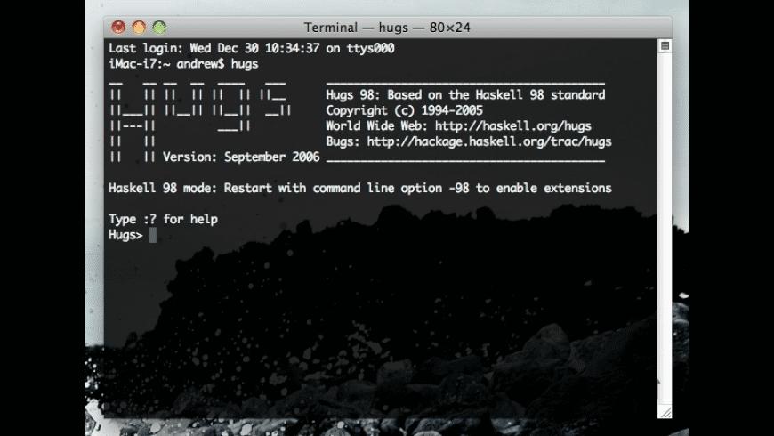 Hugs 98 for Mac - review, screenshots