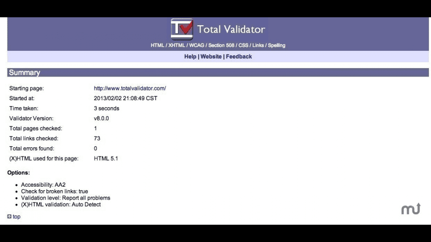 TotalValidator for Mac - review, screenshots