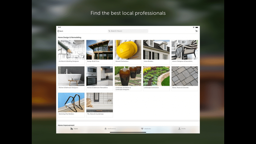Houzz for Mac - review, screenshots