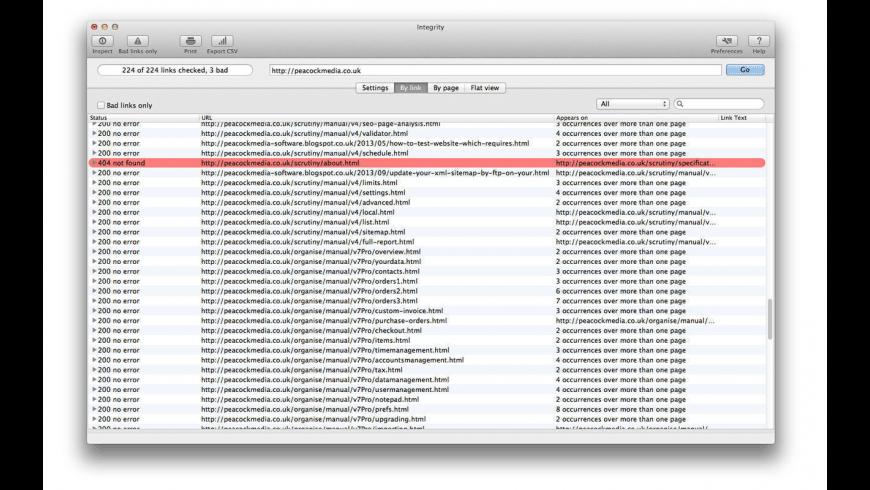 Integrity for Mac - review, screenshots