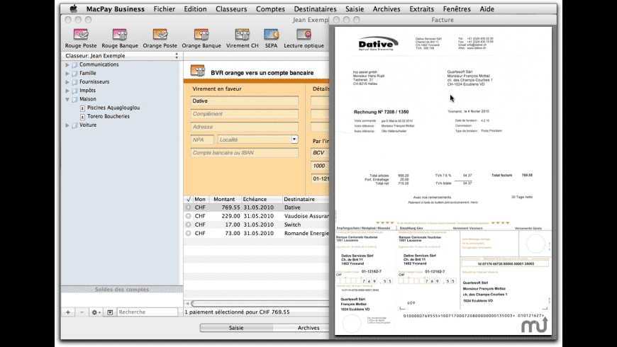 MacPay Business Edition for Mac - review, screenshots