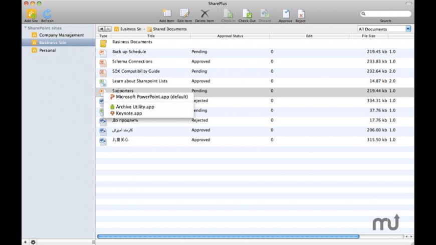SharePlus for Mac - review, screenshots