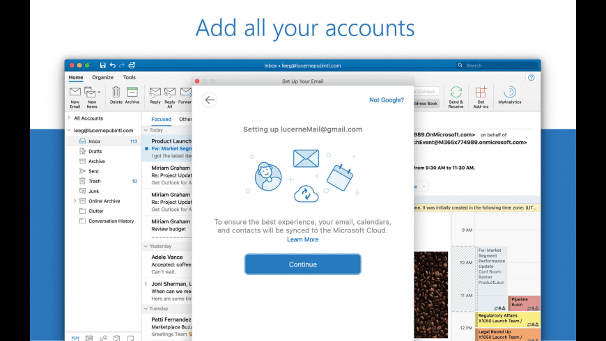 Microsoft Outlook for Mac - review, screenshots