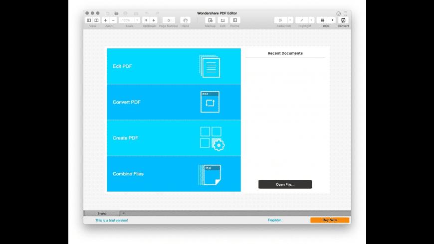 Wondershare PDF Editor for Mac - review, screenshots