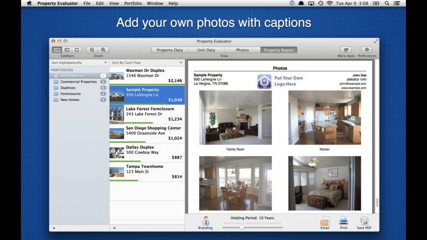 Property Evaluator for Mac - review, screenshots