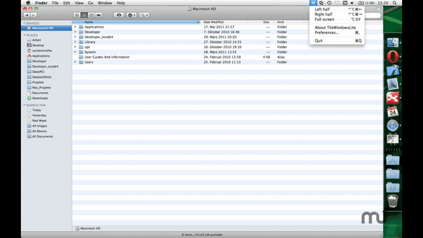 TileWindows Lite for Mac - review, screenshots