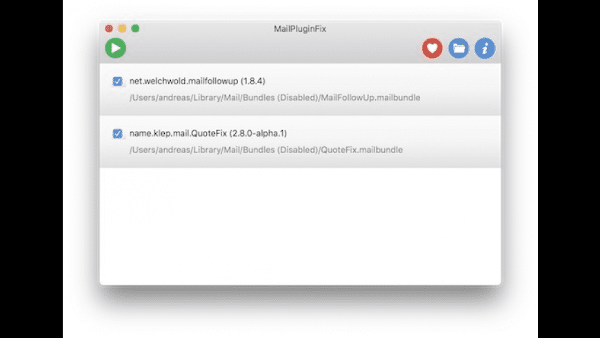 MailPluginFix for Mac - review, screenshots