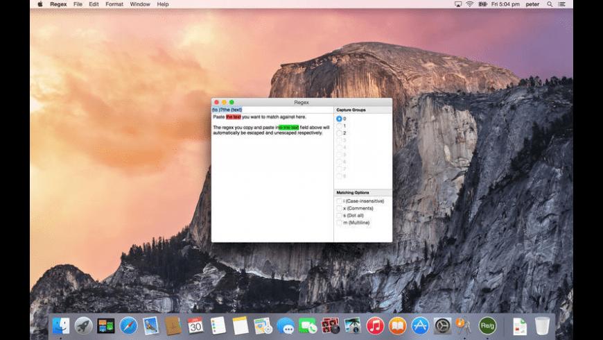 Regex for Mac - review, screenshots