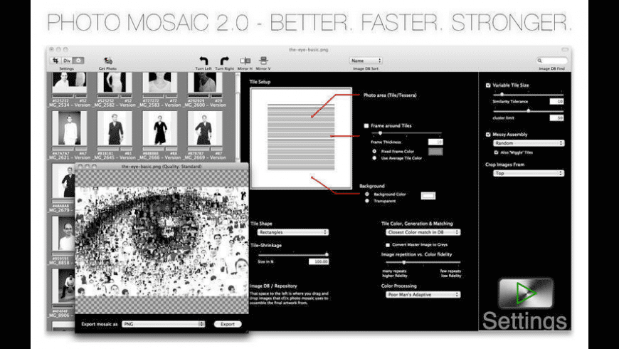 photo mosaic for Mac - review, screenshots