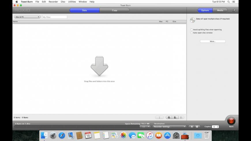 Toast Burn for Mac - review, screenshots
