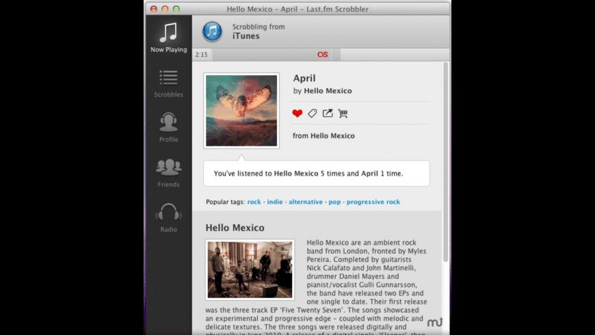 Last.fm Scrobbler for Mac - review, screenshots