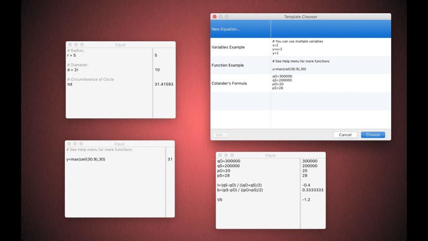 Equal for Mac - review, screenshots