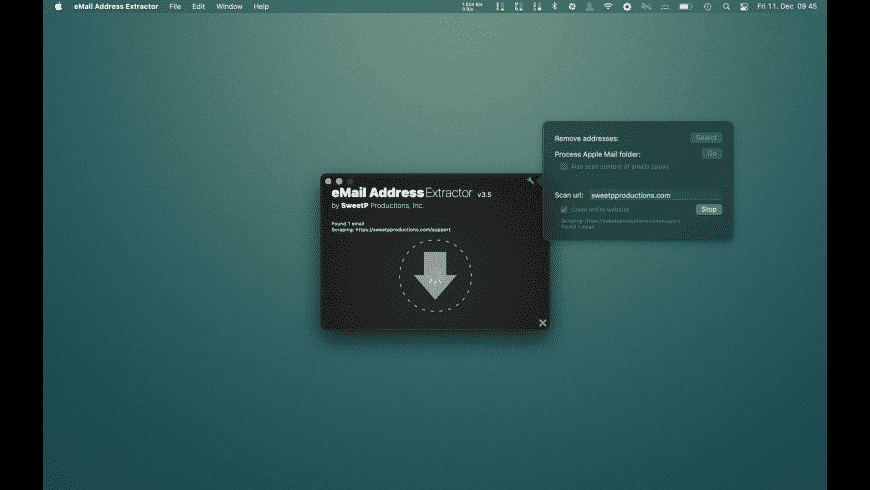 eMail Address Extractor for Mac - review, screenshots
