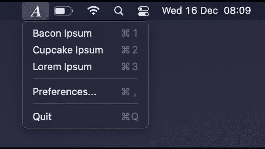 AnyIpsum for Mac - review, screenshots