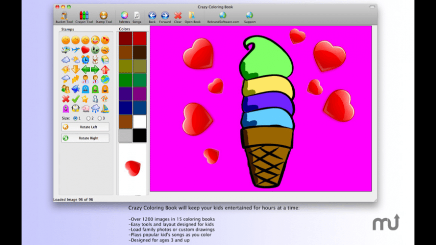 Crazy Coloring Book for Mac - review, screenshots