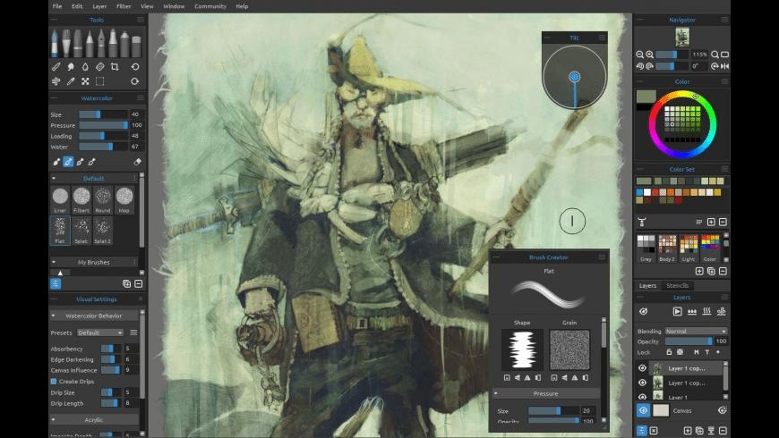 Rebelle for Mac - review, screenshots