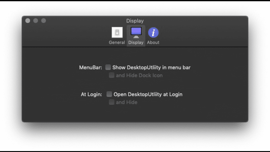 DesktopUtility for Mac - review, screenshots