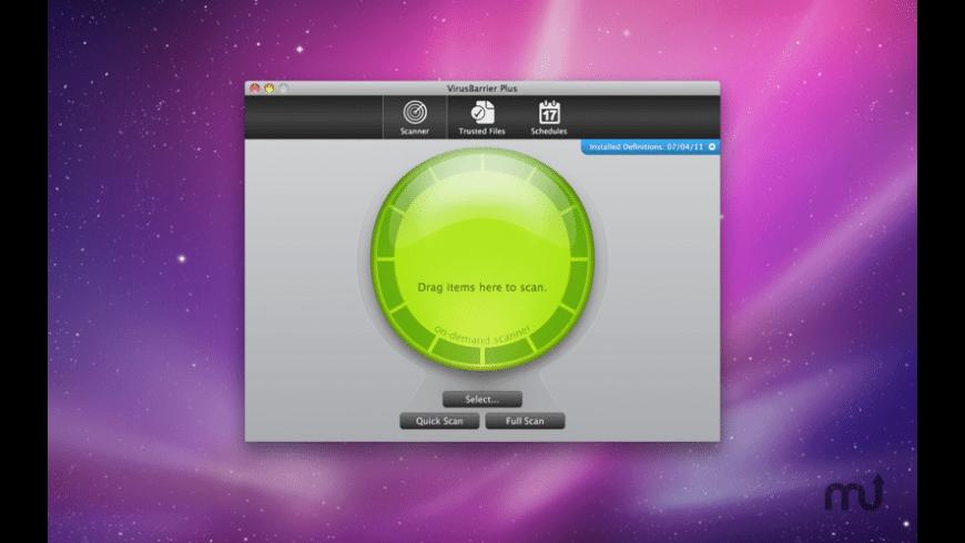 VirusBarrier Plus for Mac - review, screenshots