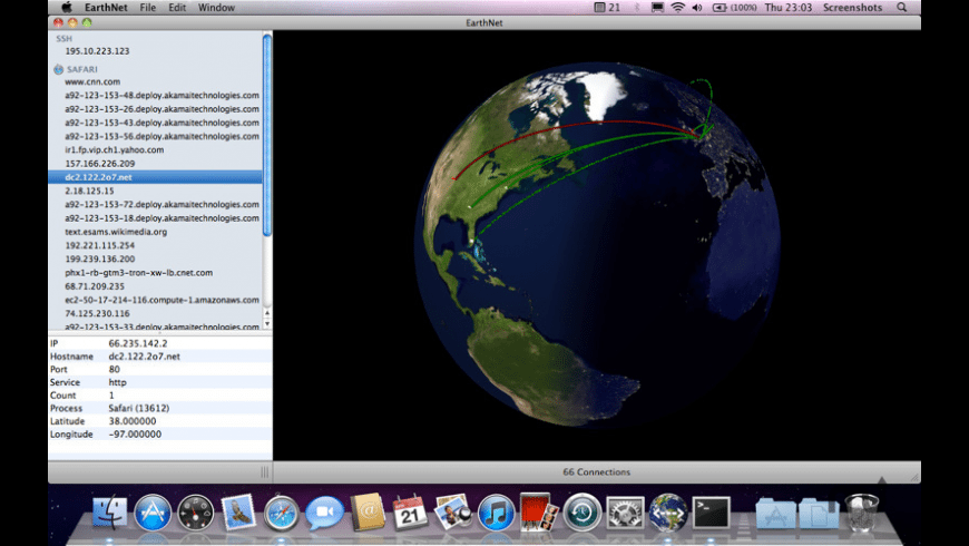EarthNet for Mac - review, screenshots