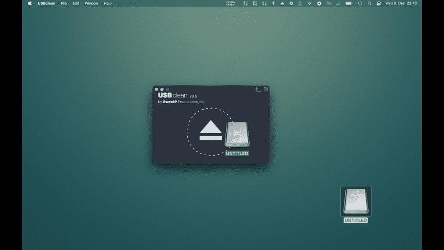 USBclean for Mac - review, screenshots