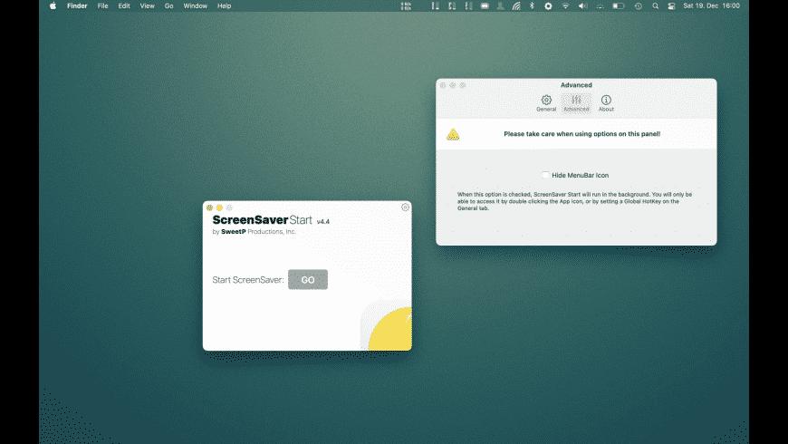 ScreenSaver Start for Mac - review, screenshots